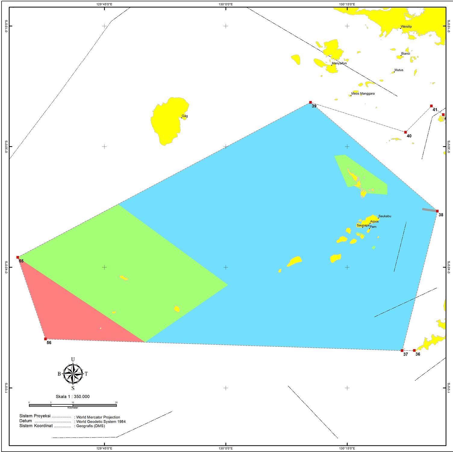 Zoning Fam Islands MPA Raja Ampat Marine Park