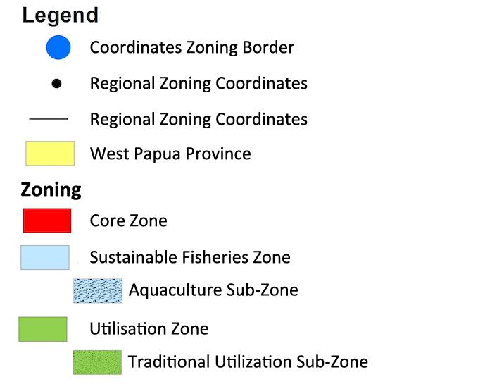 Raja Ampat Marine Park MPA Zoning