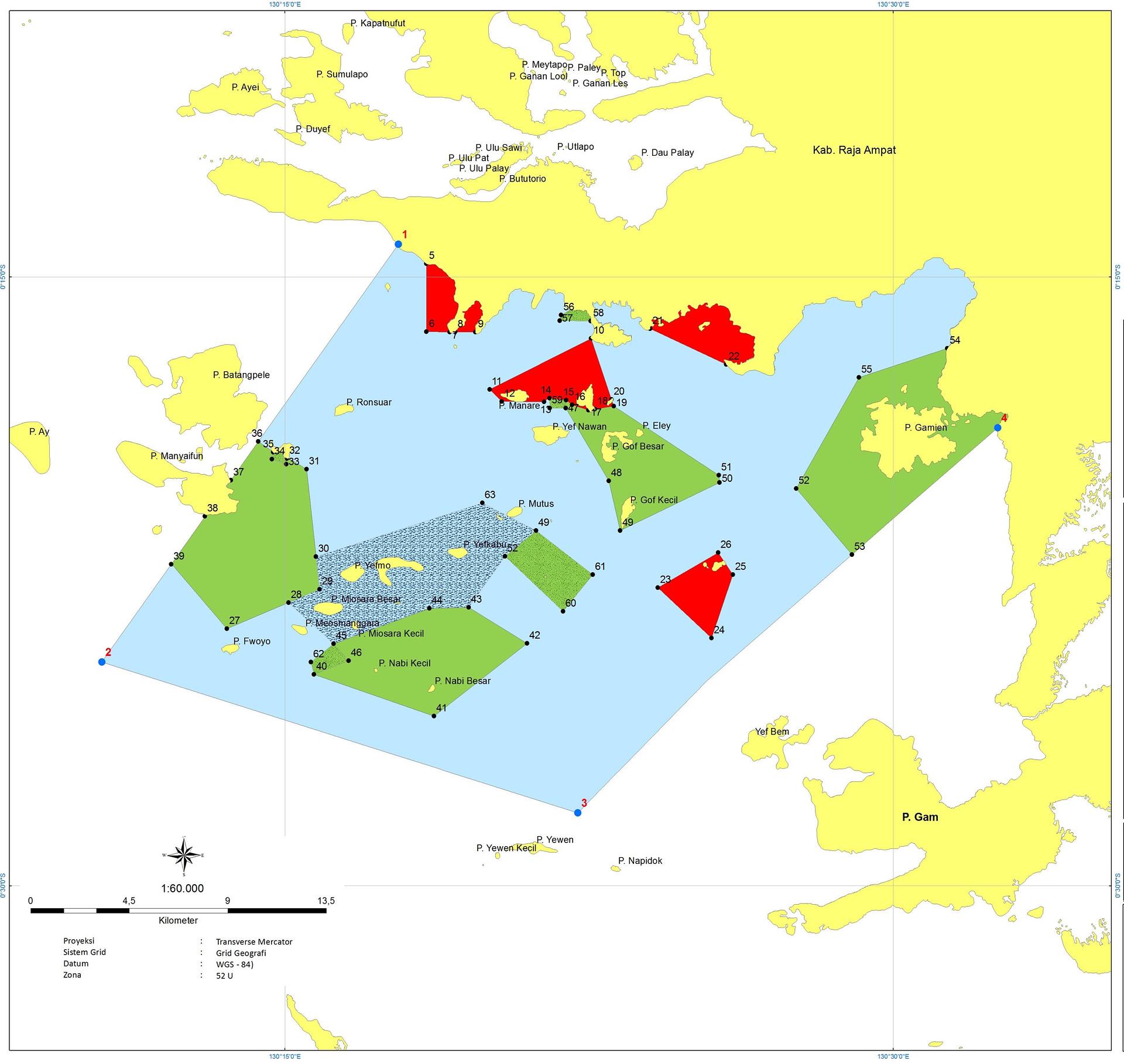 Raja Ampat National MPA Marine Protected Area Raja Ampat
